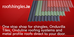 Roof Shingles Irl. One of the largest importers and distributors of Bituminous Roof Shingles in Ireland.